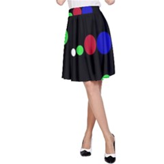 Colorful Dots A-Line Skirt