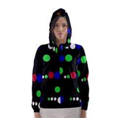 Colorful Dots Hooded Wind Breaker (Women)