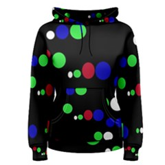 Colorful Dots Women s Pullover Hoodie