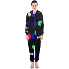 Colorful Dots Hooded Jumpsuit (Ladies)