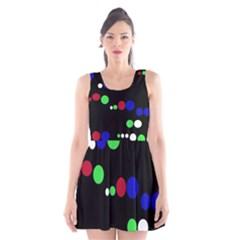 Colorful Dots Scoop Neck Skater Dress