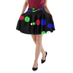 Colorful Dots A-Line Pocket Skirt
