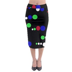 Colorful Dots Midi Pencil Skirt