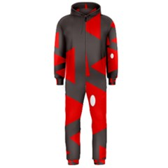 Decorative Abstraction Hooded Jumpsuit (Men)