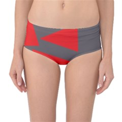 Decorative Abstraction Mid-Waist Bikini Bottoms