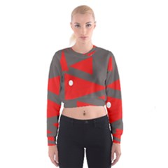 Decorative Abstraction Women s Cropped Sweatshirt