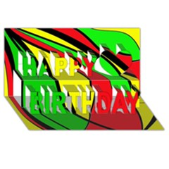 Colors Of Jamaica Happy Birthday 3D Greeting Card (8x4)