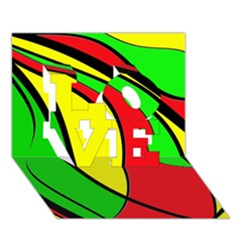 Colors Of Jamaica LOVE 3D Greeting Card (7x5)