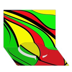 Colors Of Jamaica Circle Bottom 3D Greeting Card (7x5)