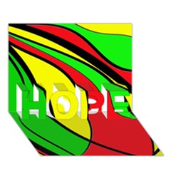 Colors Of Jamaica HOPE 3D Greeting Card (7x5)