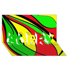 Colors Of Jamaica SORRY 3D Greeting Card (8x4)