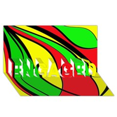Colors Of Jamaica ENGAGED 3D Greeting Card (8x4)
