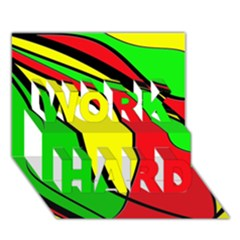 Colors Of Jamaica WORK HARD 3D Greeting Card (7x5)