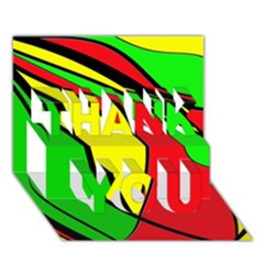 Colors Of Jamaica THANK YOU 3D Greeting Card (7x5)