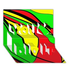 Colors Of Jamaica You Did It 3D Greeting Card (7x5)