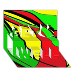 Colors Of Jamaica Get Well 3D Greeting Card (7x5)