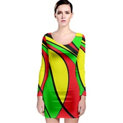 Colors Of Jamaica Long Sleeve Bodycon Dress