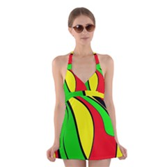 Colors Of Jamaica Halter Swimsuit Dress