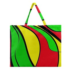 Colors Of Jamaica Zipper Large Tote Bag