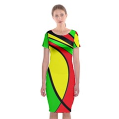Colors Of Jamaica Classic Short Sleeve Midi Dress