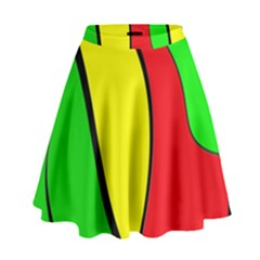 Colors Of Jamaica High Waist Skirt