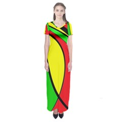 Colors Of Jamaica Short Sleeve Maxi Dress