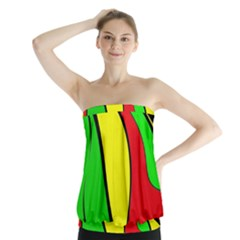 Colors Of Jamaica Strapless Top