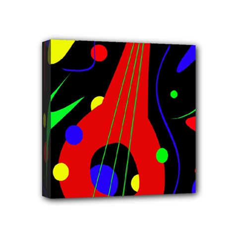 Abstract guitar  Mini Canvas 4  x 4
