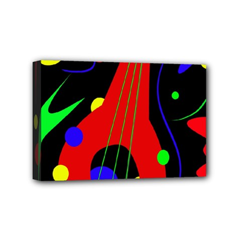 Abstract guitar  Mini Canvas 6  x 4