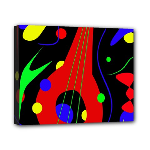 Abstract guitar  Canvas 10  x 8