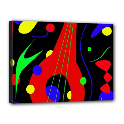 Abstract guitar  Canvas 16  x 12