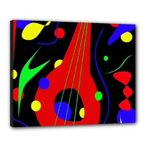 Abstract guitar  Canvas 20  x 16