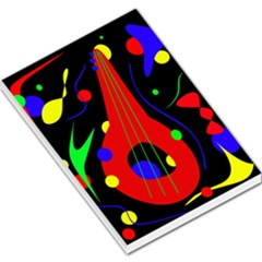 Abstract guitar  Large Memo Pads