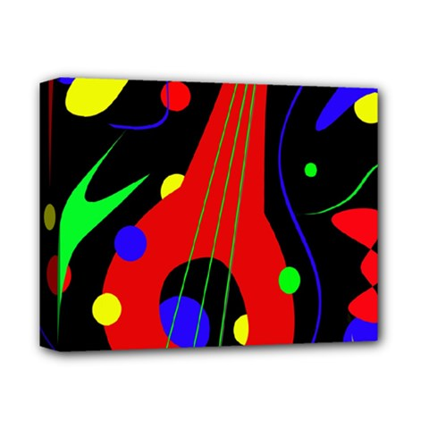 Abstract guitar  Deluxe Canvas 14  x 11