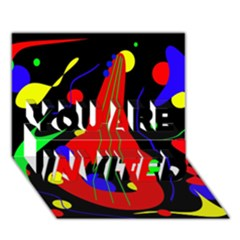 Abstract guitar  YOU ARE INVITED 3D Greeting Card (7x5)