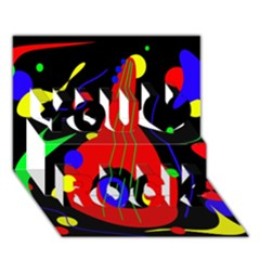 Abstract guitar  You Rock 3D Greeting Card (7x5)