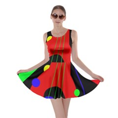 Abstract guitar  Skater Dress