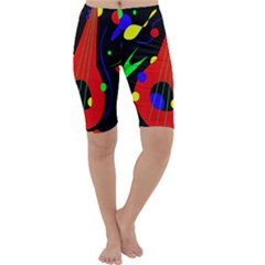 Abstract guitar  Cropped Leggings