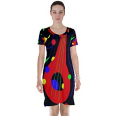 Abstract guitar  Short Sleeve Nightdress
