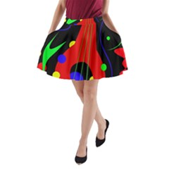 Abstract guitar  A-Line Pocket Skirt