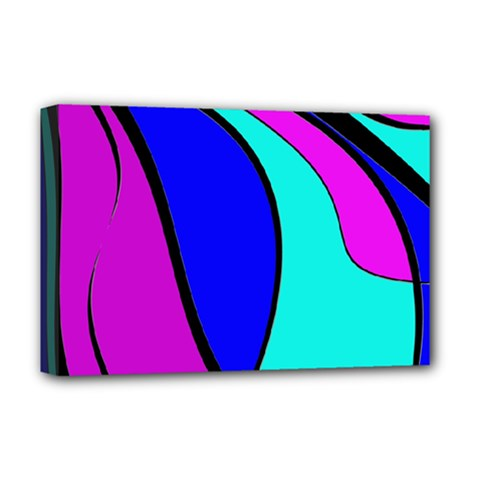 Purple and Blue Deluxe Canvas 18  x 12