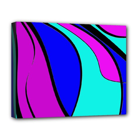 Purple and Blue Deluxe Canvas 20  x 16