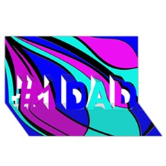 Purple and Blue #1 DAD 3D Greeting Card (8x4)