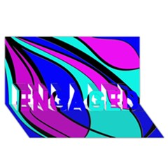 Purple and Blue ENGAGED 3D Greeting Card (8x4)
