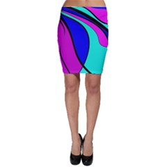 Purple and Blue Bodycon Skirt