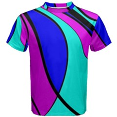 Purple and Blue Men s Cotton Tee