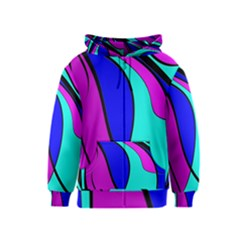 Purple and Blue Kids  Zipper Hoodie