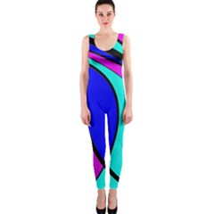 Purple and Blue OnePiece Catsuit