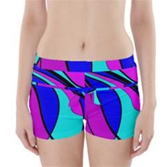 Purple and Blue Boyleg Bikini Wrap Bottoms