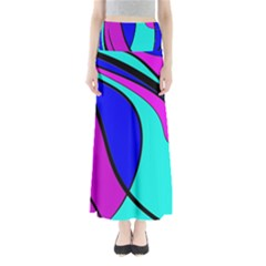 Purple and Blue Maxi Skirts